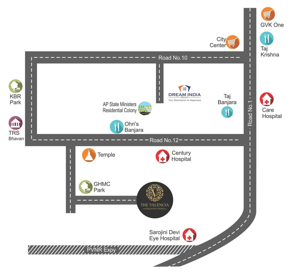 the valencia hyderabad  apartments for sale in the