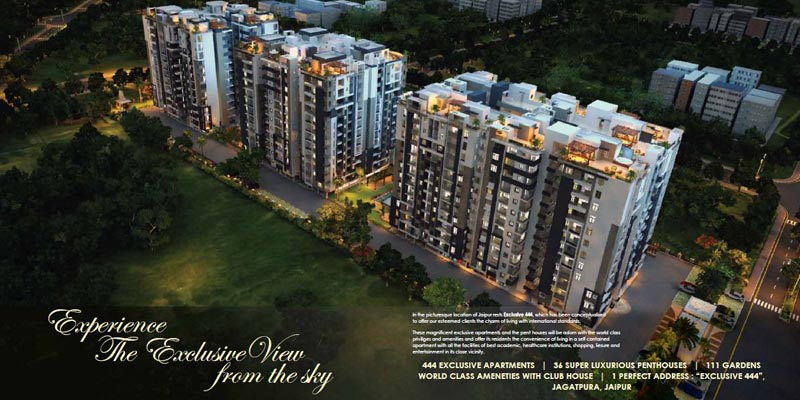 Exclusive 444, Jaipur - 2/3 BHK Apartments