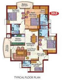 3 BHK Flat for Rent in Pi Ii, Greater Noida