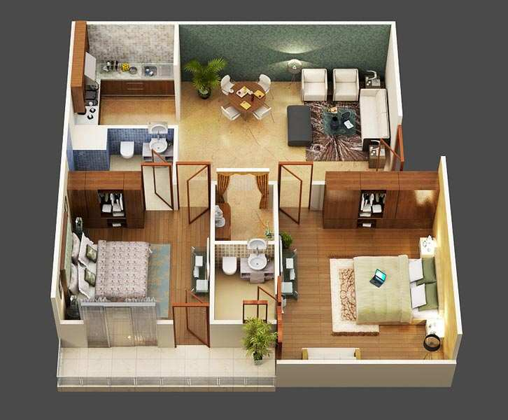 3 BHK Flats & Apartments for Sale in Sector 116, Noida - 1480 Sq. Feet
