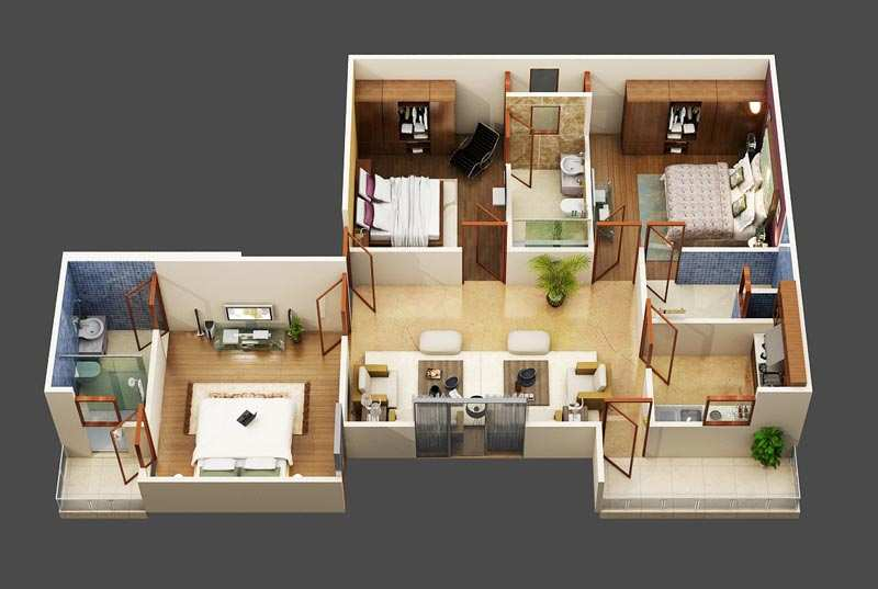 2 BHK Flats & Apartments for Sale in Sector 116, Noida - 1230 Sq. Feet