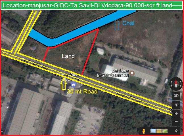 Industrial Land for Sale in Manjusar, Vadodara - 971100 Sq. Feet