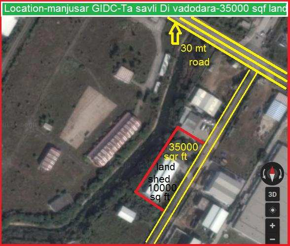 Industrial Land for Sale in Manjusar, Vadodara - 32000 Sq. Feet