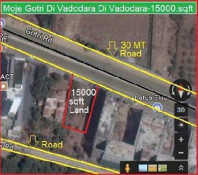 15000 Sq.ft. Commercial Land for Sale in Gotri, Vadodara