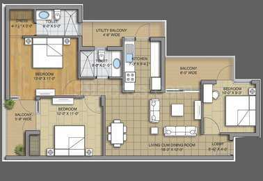 3 BHK 1650 Sq.ft. Residential Apartment for Sale in Ambala Chandigarh Highway