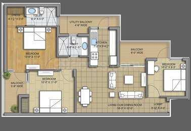 3 BHK 183 Sq. Yards Residential Apartment for Sale in Ambala Chandigarh Highway