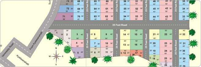 Residential Plot for Sale in Hennur, Bangalore - 1500 Sq. Feet