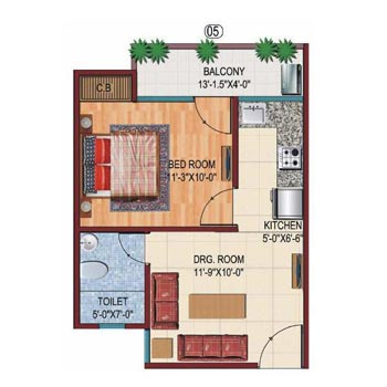 1 BHK 560 Sq.ft. Residential Apartment for Sale in NH 91, Ghaziabad