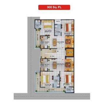 2 BHK 900 Sq.ft. Residential Apartment for Sale in NH 91, Ghaziabad