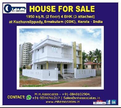 4 BHK 1950 Sq.ft. House & Villa for Sale in Kuzhivelippady, Ernakulam