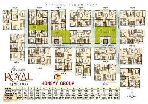 2 BHK 1135 Sq.ft. Residential Apartment for Sale in P. M. Palem, Visakhapatnam