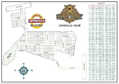 1500 Sq.ft. Residential Plot for Sale in Rayakottai Road, Hosur