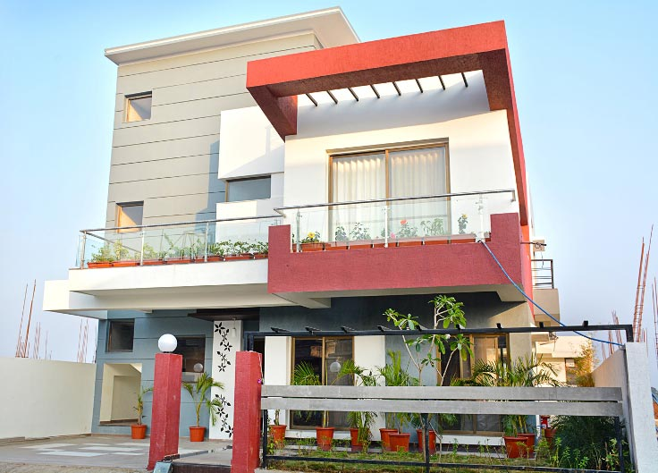 3 BHK Bungalows / Villas for Sale in Raipur - 2287 Sq.ft.