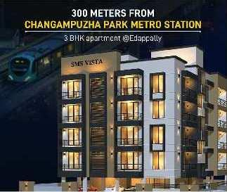 3 BHK 1234 Sq.ft. Residential Apartment for Sale in Edappally, Kochi