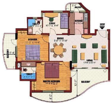 2 BHK 1130 Sq.ft. Builder Floor for Sale in Sector 82 Noida