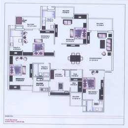4 BHK 2420 Sq.ft. Residential Apartment for Sale in VIP Road, Zirakpur