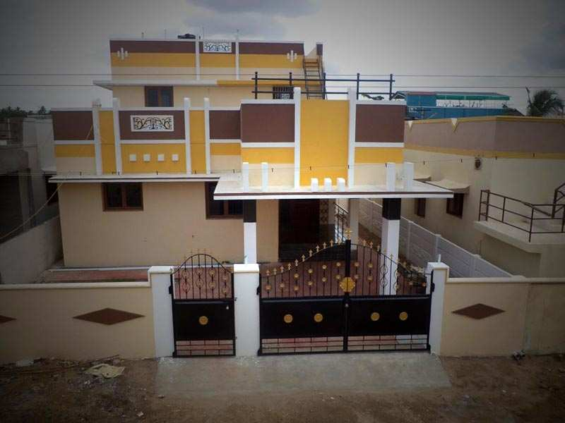 Front Elevation Of House In Coimbatore : Bhk individual houses villas for sale in coimbatore