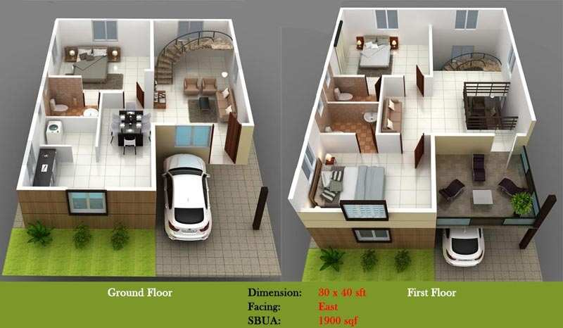 3 bhk bungalows villas for sale in electronic city for 3 bhk bungalow plan and elevation