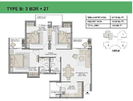 3 BHK 1404 Sq.ft. Residential Apartment for Sale in Sector 150 Noida