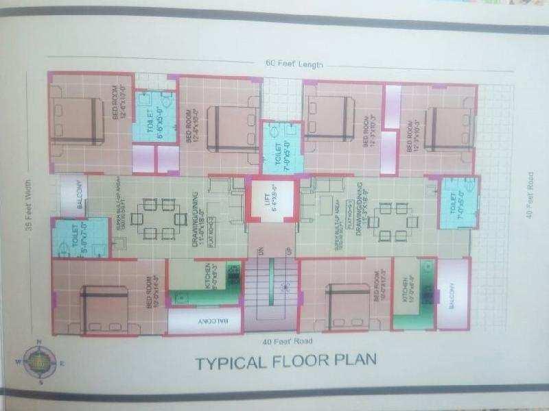 3 BHK Flats & Apartments for Sale in Mansarovar, Jaipur - 1300 Sq. Feet
